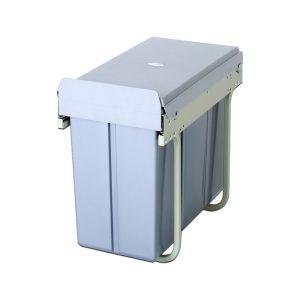 ELITE DOMESTIQUE 30L Twin Slide-Out Slim Concealed Waste Bin (for 30cm cupboard)