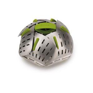 JOSEPH JOSEPH Bloom Steel Folding Steamer Basket - Green