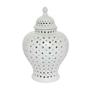 CAFE LIGHTING Minx Temple Jar - Extra Small White