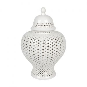 CAFE LIGHTING Minx Temple Jar - Medium White