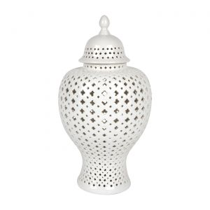 CAFE LIGHTING Minx Temple Jar - Large White