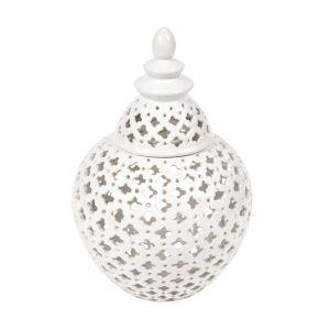 CAFE LIGHTING Miccah Temple Jar - Large White