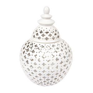 CAFE LIGHTING Miccah Temple Jar - Medium White