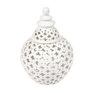 CAFE LIGHTING Miccah Temple Jar - Small White