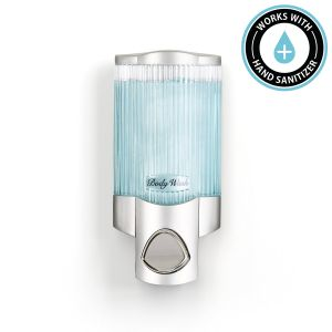 BETTER LIVING SIGNATURE Soap and Sanitiser Dispenser 1 - Chrome with Ribbed Translucent Chamber