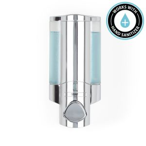 BETTER LIVING AVIVA 300ml Soap and Sanitiser Dispenser 1 - Chrome with Translucent Chambers