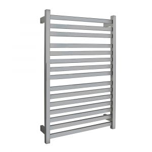 AGUZZO EZY FIT Dual Wired Flat Tube Heated Towel Rail 60 x 92cm - Polished SS