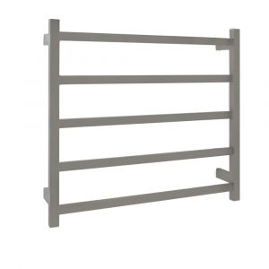 AGUZZO EZY FIT Dual Wired Flat Tube Heated Towel Rail 75 x 70cm - Polished SS
