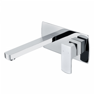 AGUZZO TERRUS Wall Mounted Mixer and Spout - Polished Chrome