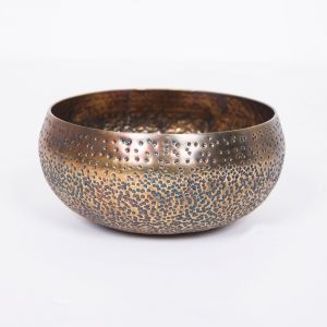 PEPPA Small 20.5cm Wide Bowl - Antique Brass