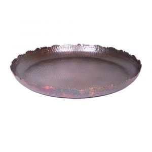 HESTIA 43cm Wide Decorative Plate - Antique Rose Gold