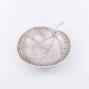 APPLE Large 30cm Wide Decorative Leaf - Nickel