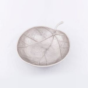 APPLE Medium 23cm Wide Decorative Leaf - Nickel