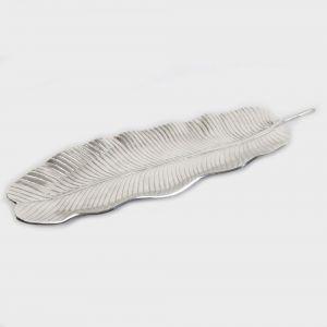 BANANA Large 75cm Long Decorative Leaf - Nickel