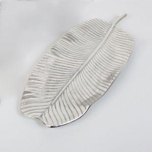 BANANA Medium 60cm Long Decorative Leaf - Nickel