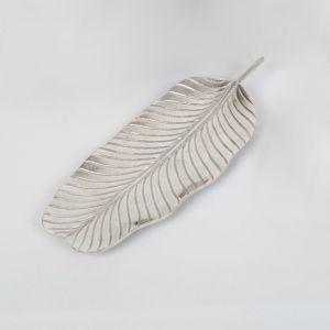 BANANA Small 39cm Long Decorative Leaf - Nickel