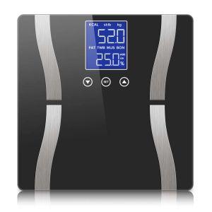 SOGA Digital Bathroom Scales with Dual LCD Display - Black