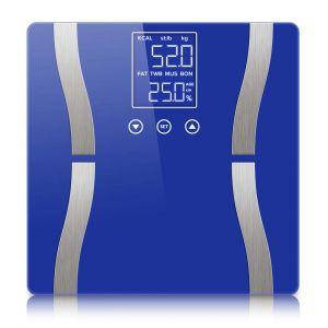 SOGA Digital Bathroom Scales with Dual LCD Display - Blue