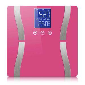 SOGA Digital Bathroom Scales with LCD Display - Pink