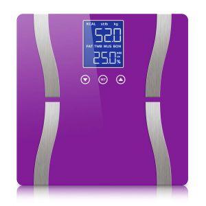 SOGA Digital Bathroom Scales with LCD Display - Purple