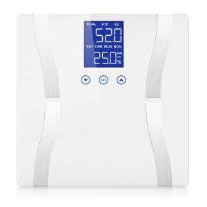 SOGA Digital Bathroom Scales with LCD Display - White