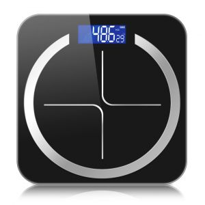 SOGA Digital Glass Bathroom Fitness Scales with LCD Display - Black