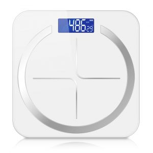 SOGA Digital Glass Bathroom Fitness Scales with LCD Display - White