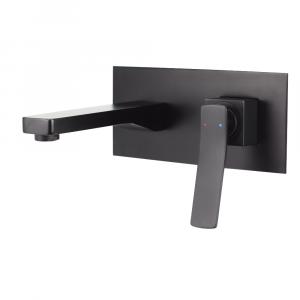 AGUZZO CORTINA Wall Mounted Mixer with Spout - Matte Black