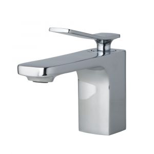 AGUZZO CORTINA Single Lever Basin Mixer Tap - Polished Chrome