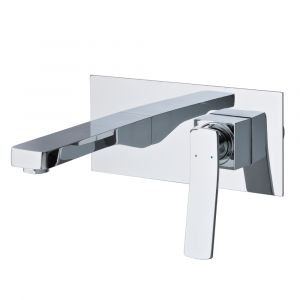 AGUZZO CORTINA Wall Mounted Mixer with Spout - Polished Chrome