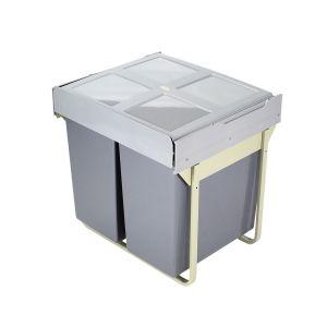 ELITE DOMESTIQUE 90L Twin Slide-Out Concealed Waste Bin (for 60cm cupboard)