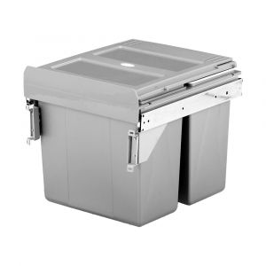 ELITE VALET 32L Twin Side Mounted Slide-Out Concealed Waste Bin (40cm cupboard)