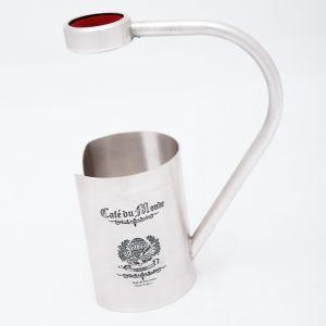 CAFE DU MONDE Hand Engraved Wine Bottle Holder - Antique Silver