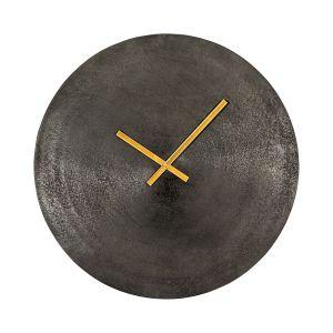 SANTOS 60cm Wide Round Wall Clock - Antique Black
