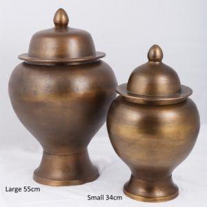 ZANZIBAR Small 34cm Ginger Pot - Bronze