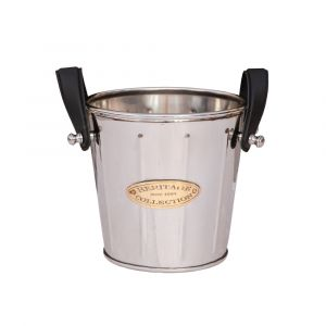 HERITAGE COLLECTION Ice Bucket/Wine Cooler - Nickel with Gold Emblem