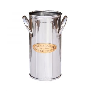 HERITAGE COLLECTION Tall Single Bottle Stand - Nickel with Gold Emblem