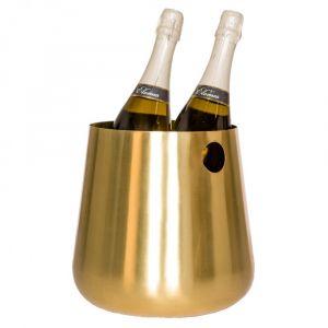 MAXWELL 2 Bottle Wine cooler - Brushed Brass