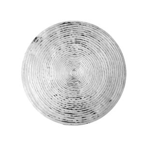 GOREN 76cm Wide Concentric Circle Wall Art - Polished Aluminium