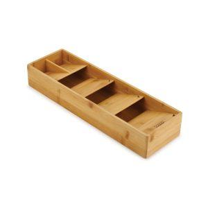 JOSEPH JOSEPH DrawerStore Bamboo Compact Cutlery Organiser