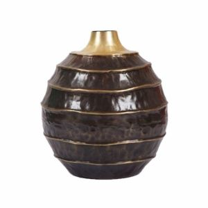 COCOON Small 30cm Tall Vase - Brass