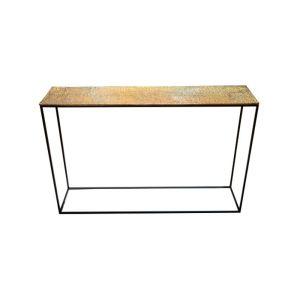 JUTE Console Table - Antique Brass