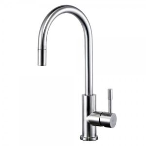 SWEDIA KLAAS Stainless Steel Sink Mixer with Swivel Spout and Pull-Out - Brushed