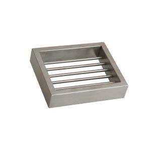 AGUZZO MONTANGNA Stainless Steel Soap Basket Dish - Brushed Satin