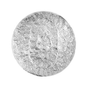 NIRAV 76cm Wide Leafy Vine Wall Art - Polished Aluminium
