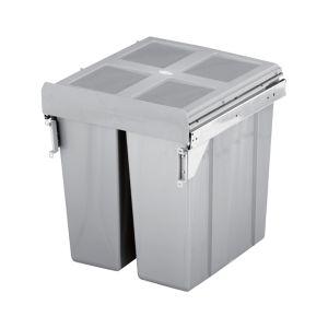 ELITE VALET 90L Twin Side Mounted Slide-Out Concealed Waste Bin (60cm cupboard)
