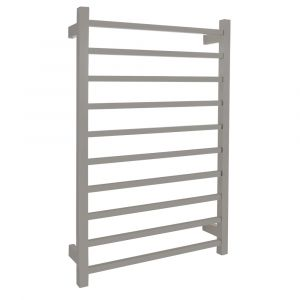 AGUZZO EZY FIT Dual Wired Square Tube Heated Towel Rail 60 x 92cm - Polished SS