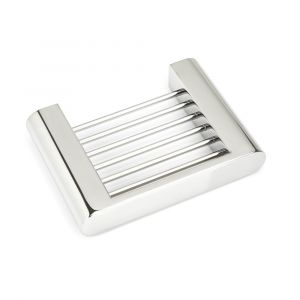 VALE FLUID Soap Basket Dish - Polished Stainless Steel