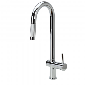 VALE SUPERB Pull Out Goose Neck Kitchen Mixer Tap - Chrome