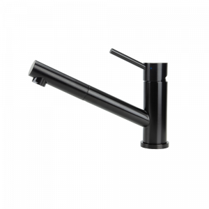 SWEDIA OSKAR Stainless Steel Kitchen Mixer Tap with Pull-Out - Black Satin